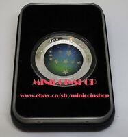 Australia 2013 Southern Sky PAVO 1oz Silver Proof Colored Domed Coin COA & Box
