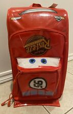 Disney Store Pixar CARS Lightning McQueen Rolling Luggage Carry On