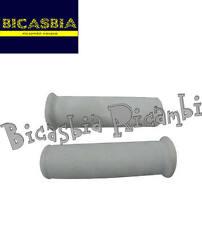 8070 - COPPIA MANOPOLE BIANCHE DM 21 CON LOGO VESPA VESPA 160 GS VSB1T - 150 GL