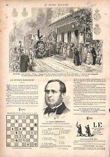 Chemin de Fer à Tolosa par Don Carlos Espagne Carliste Médailles GRAVURE 1875