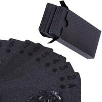 1 Pack Black Playing Poker Cards Plastic Waterproof Table Decks Card Games Deck