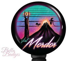 Visit Mordor Badge Reel Lord of the Rings ID Holder