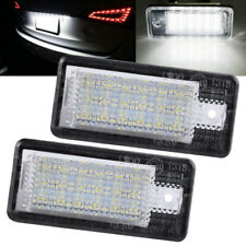 2PCS 18LED Number License Plate Lamp whiteLight For Audi A3 S3 A4 A6 B6 B7 Q7