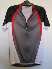 A  BLACK & RED GREY & WHITE CRIVIT SHORT SLEEVE CYCLING TOP SIZE 38