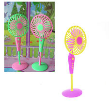 1 X Mini Fan Toys for Barbies Kids Dollhouse Furniture Accessories Color RandomR