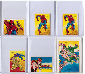 9 - Rare 1980 Marvel Super Heroes SPIDER-MAN and Others Venezuela Stickers