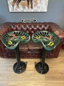 John Deere Tractor Seat Bar Stools - Breakfast Bar, Pub, Man Cave - Seat, Chair