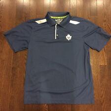 Toronto Maple Leafs NHL Reebok Center Ice Golf Shirt Mens Size M