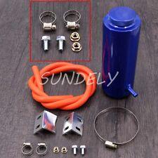 800ml Cylinder Radiator Overflow Reservoir Coolant Tank Blue Aluminum Can