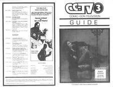 1983 CCTV3 SAN DIEGO COMIC-CON TELEVISION GUIDE - Brinke Stevens cover photo.