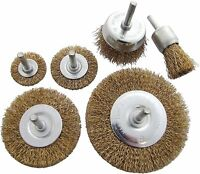 6 pc DRILL WIRE WHEEL CUP BRUSH For Polishing, Rust , etc - HEAVY DUTY SET