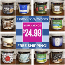 Bath & Body Works • 3 Wick Candles • Your Choice! • Free Shipping!