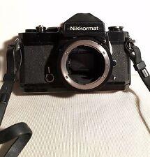 Vintage Nikon Nikkormat 35mm SLR Film Camera Body ~ For Parts Repair