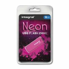 Integral 16GB Neon USB Stick - in Pink. **GADGET SHOW AWARD WINNER**