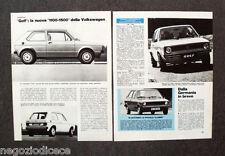 BF29 - Clipping-Ritaglio -1974- AUTONOTIZIE , VOLKSWAGEN GOLF NUOVA 1100-1500