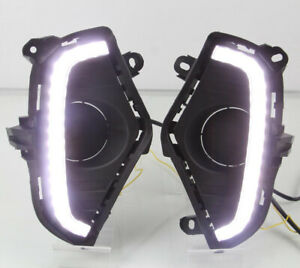 LED DRL Daytime Running Fog Light Kit For Toyota RAV4 2019-2021 Upgrade New Look