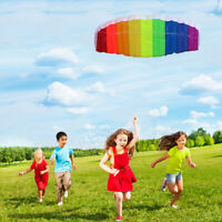 Huge 2.5m/1.4m Dual Line Parafoil Parachute Stunt Sport Beach Kite Outdoor Toys