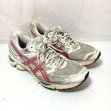 Asics Gel Cumulus 13 T199N Women's 11.5 White Red Blue Athletic Running Shoes