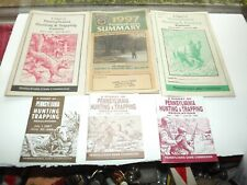 Pennsylvania Hunting & Trapping Digest Books 1987-88,93-94,94-95,96-97 ,97-98