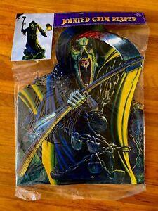 Amscan Ron Lewis Grim Reaper Wall Decoration Artwork Vintage Scythe Lantern NEW