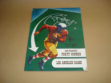 S.F. FORTY NINERS VS LOS ANGELES RAMS ~ GAME DAY PROGRAM ~ NOVEMBER 30, 1952