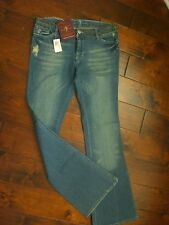 7 for All Mankind DARK HAVANA STUDDED WAIST A Pocket Jeans 28 NEW $242 MSRP Rare