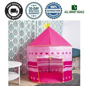 Carpa Castillo De Juegos Para Bebe Niña Rosa Para Interior Y Exterior Regalo