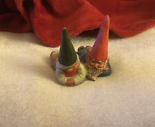 "Pair of Gnomes 1993 Klaus Wickl ""Bill & Bella� 353272 Enesco 1 1/2 "" Damaged"