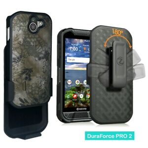 For Kyocera DuraForce Pro 2, E6910 E6900 Strong Belt Clip Holster Case Kickstand