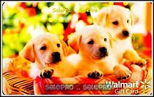 WALMART ANIMAL WEEK THREE PUPPIES DOGS #FD30150 DOG COLLECTIBLE GIFT CARD