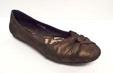 BORN Size 7 Bronze Metallic Leather Ballet Flats Shoes