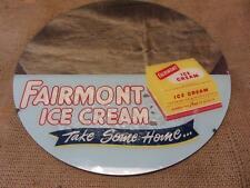 Vintage Fairmont Ice Cream Mirror Sign > Old Antique Ice Cream Milk Dairy 9657