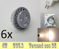 6x calidad 4w LED-spot 12v mr16 gu5.3 blanco cálido duradero, robusto nuevo embalaje original posco