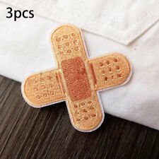 3pcs Sewing-on Iron-on Fabric Apparel Applique Badge Sticker Band-aid Patch