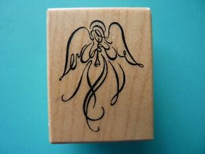 Angel Playing Horn, Small D-2438 PSX Rubber Stamp