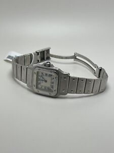 CARTIER #1565 SANTOS 26MM WOMENS STAINLESS STEEL AUTHENTIC WATCH