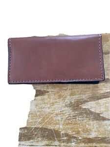 Authentic Bison Leather Brown Checkbook Handmade