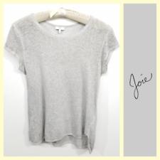 Joie $128 women's heathered gray soft linen knit t-shirt~M