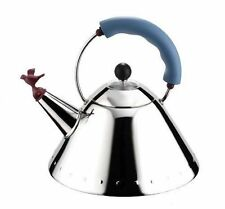 Alessi Michael Graves Kettle With Bird Whistle Blue Handle