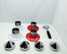 4 wire wheel adapters 10 Side Bullet chrome knock offs Spinners wrench 10 sides