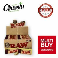 More details for raw tips roach filter booklet books for smoking rolling paper full box