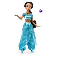 Disney Authentic Jasmine Figure w/ Ring Classic Poseable Toy Doll Aladdin New