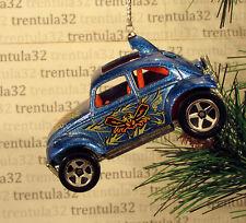 VW BAJA BUG VOLKSWAGEN BEETLE BLUE ORANGE CHRISTMAS TREE ORNAMENT XMAS