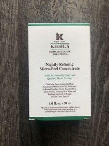 Kiehl's Nightly Refining Micro-Peel Concentrate 1.0 oz / 30ml NEW w/ Box