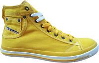 DIESEL Exposure I Sneaker Gr. 44 Freizeitschuhe Skater Schuhe Gelb NEU