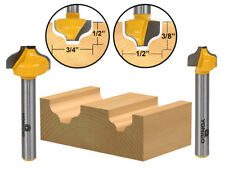 """2 Bit Ogee Groove Router Bit Set - 1/4"""" Shank - Yonico 14274q"""