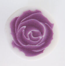 Fimo polymer clay millefiori purple rose cane nail art  by orly kliger