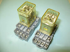 (2) Idec RY4S-UL-AC120V 120VAC 4PDT 5A Relays with Bases