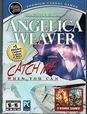 Angelica Weaver CATCH ME WHEN YOU CAN Hidden Object +2 Bonus Games PC CD-ROM NEW