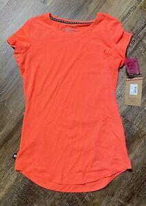 Womens Canari Sportee Cycling Shirt/Jersey Small Orange Coral Zipper Pocket